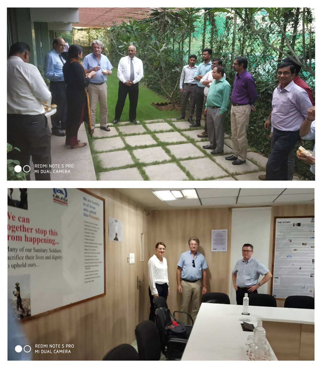 Johnston Sweepers Limited visits India