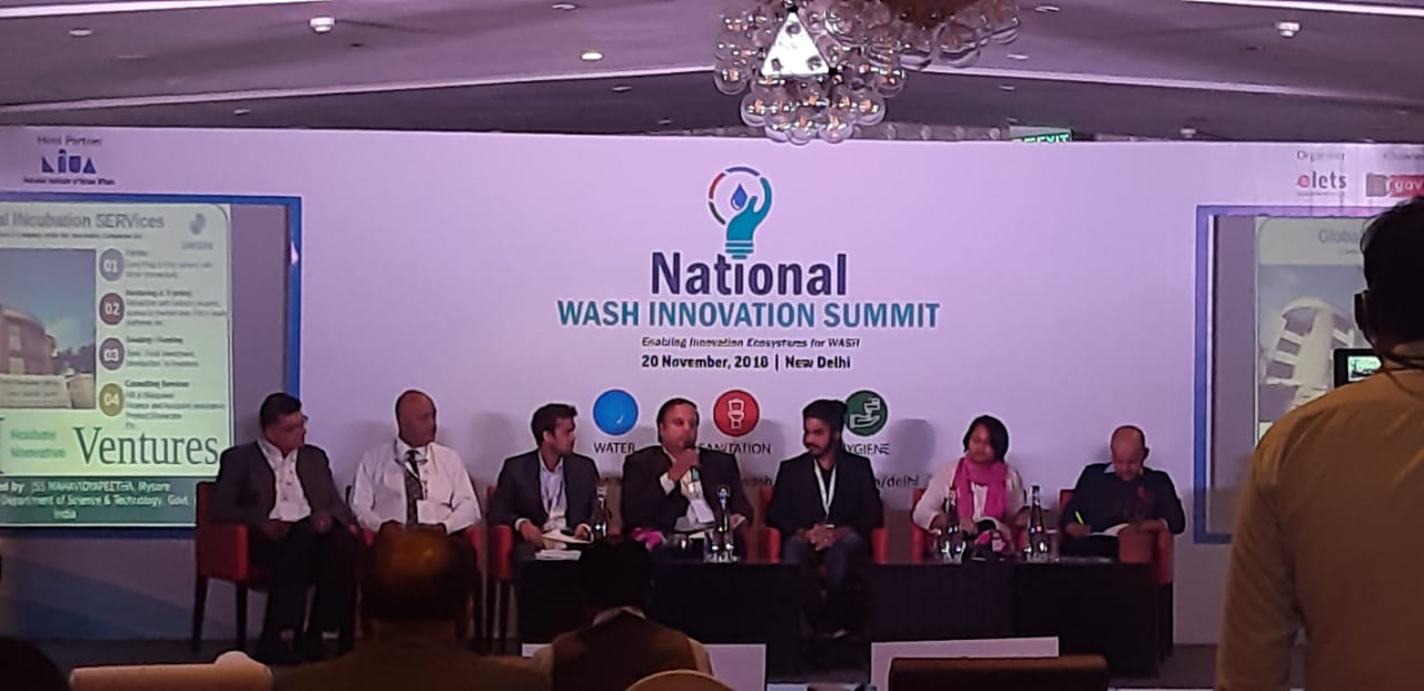 Our Mr. M Krishna, a panelist of the International WASH summit in Mumbai